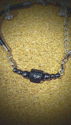 Black Tourmaline w/Hematite Bracelet
