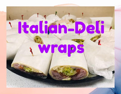 italian deli wraps