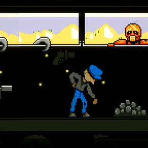 KEEP IT ALIVE: keep a heart beating while feeding the train with coal in this 2D game