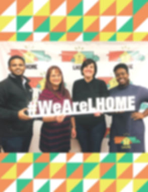 Job Up Loan, 4 people holding #WeAreLHOM