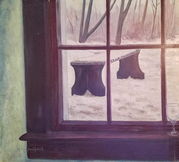 Window and Bench Romance