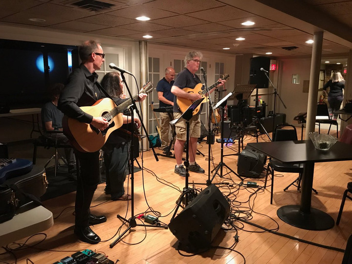 Playing with my friends at an Einstein Alley Musicians Cooperative in Princeton, NJ.