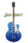 John's newest guitar, a Gretsch G5420T in Fairlane Blue