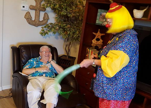 Memory Care clowning around