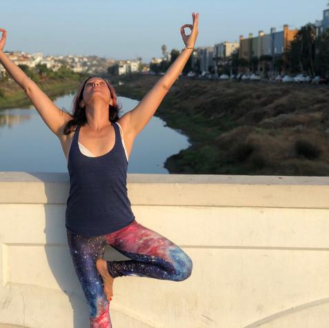 Yoga on the bridge
