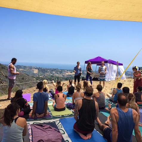 Yoga event Malibu