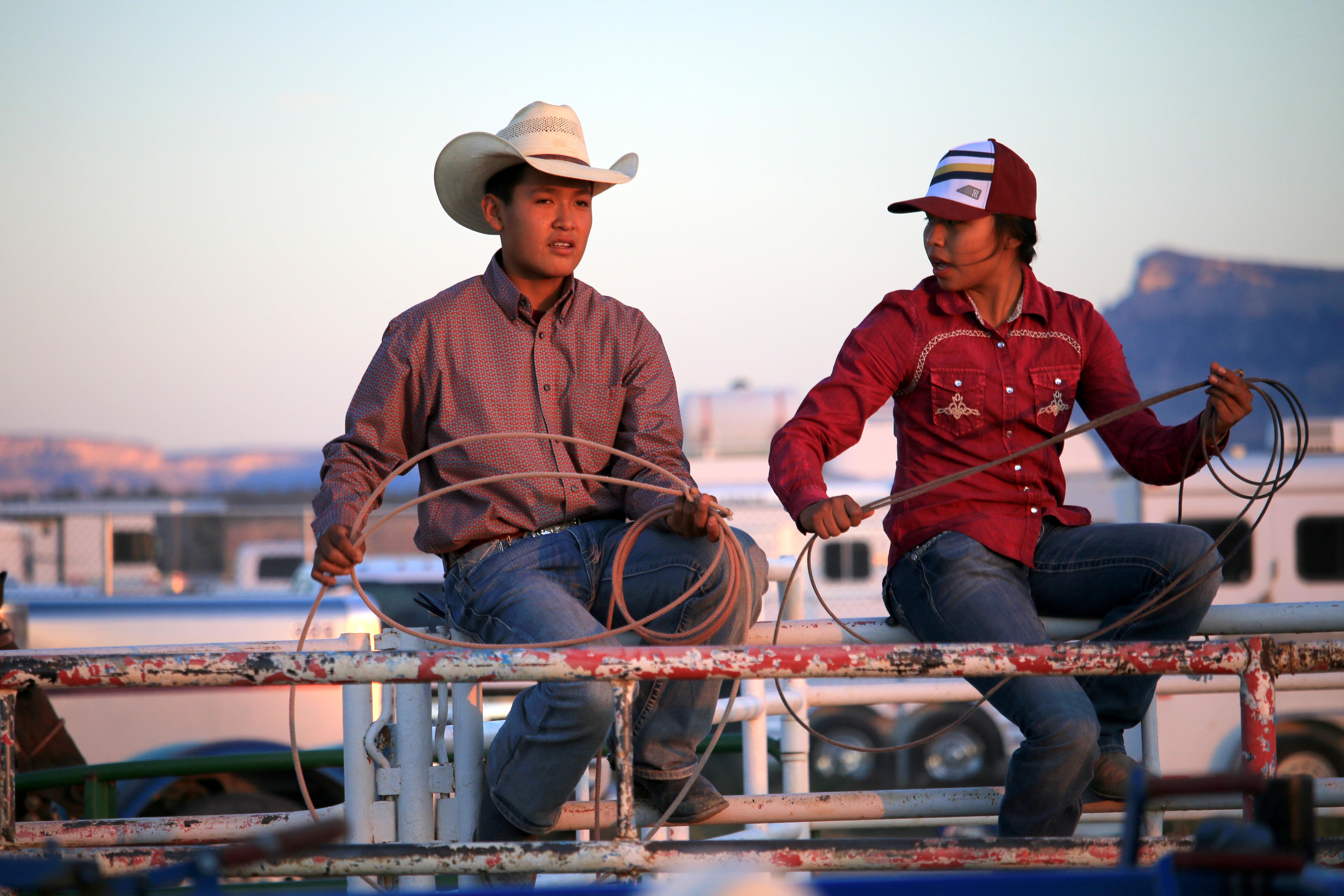 young rodeoers, kayenta