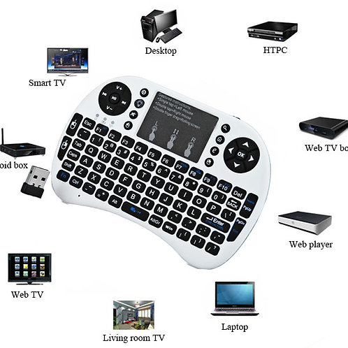 SmartBox Wireless Touchpad Keyboard w/ Backlight