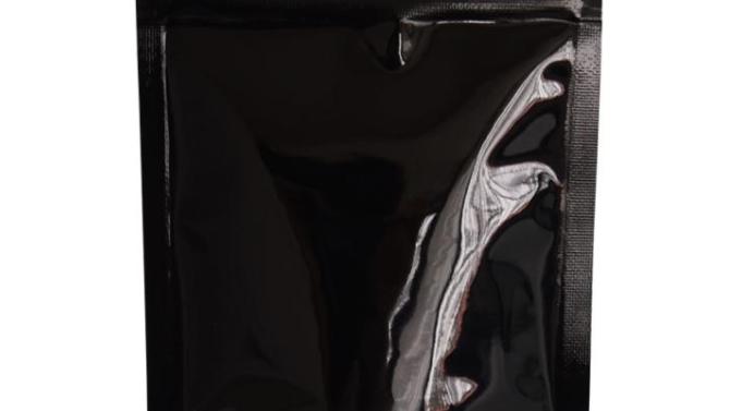 Packaging Sachet stand-up en aluminium Noir 130X225 Lot de 100