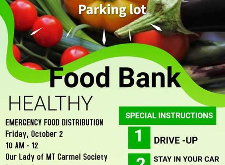 Hammonton Emergency Food Friday , October 2 10a - 12