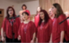 Love that Red singing at Holiday Concert