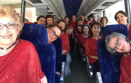 On the bus to compete!