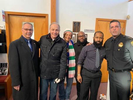 Sherif Eric Scheffler at Mount Zion Baptist Church Pleasantville celebrating Dr. Martin Luther King.
