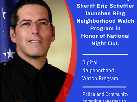 Sheriff Scheffler launches Ring Neighborhood Watch Program in Honor of National Night Out