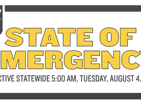 STATEWIDE STATE OF EMERGENCY for Hurricane Isaias effective at 5:00 AM on Tuesday, August 4, 2020
