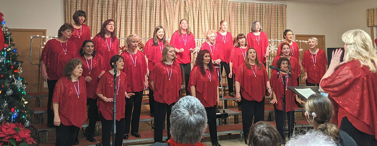 Chorus singing during holiday show 2019.