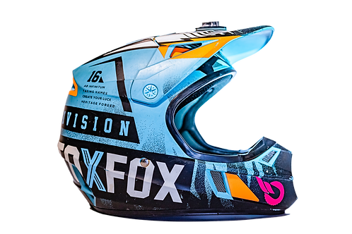 Casco FOX Lighting Fast Division (Niña)