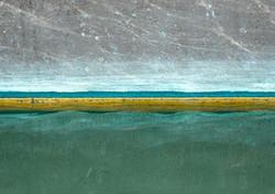 YELLOW STRIPED HULL #sea #mer #mare #boats #barca #bateau #sailing #sailboat #sail #green #grey #ye