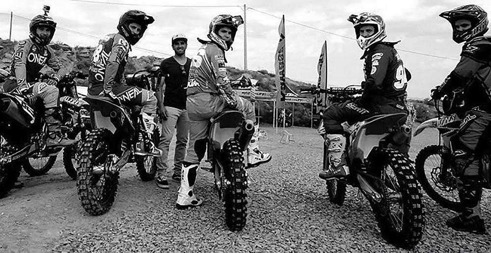 Los riders en el complejo Lleides Park