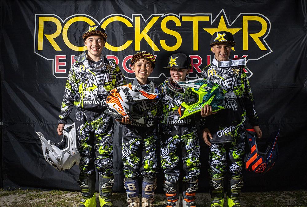 Añleix Diego (#27), Vincent Carbonell(#117), Kevin Colomé y Aran López.TEAM JCR JÚNIOR - Foto. Katharsis.Co