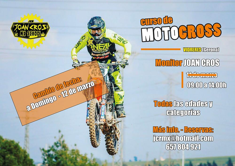 Cartel promocional del MX-SCHOOL Joan Cros