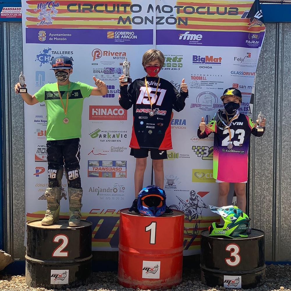 Kevin Colomé #23 en tercera posición en Monzón