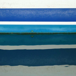 obsessed with Rothko #abstractart #geometricart #blues #colorfield #reflection #horizontal #waterlin