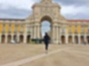 Street running in Lisbon