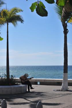 Guitar player on the Malecon, Puerto Vallarta