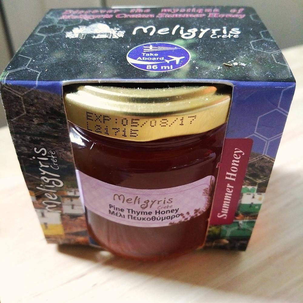 Cretan pine thyme honey
