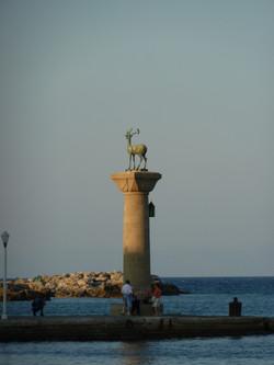 Deer in the Mandraki harbour, Rhodes