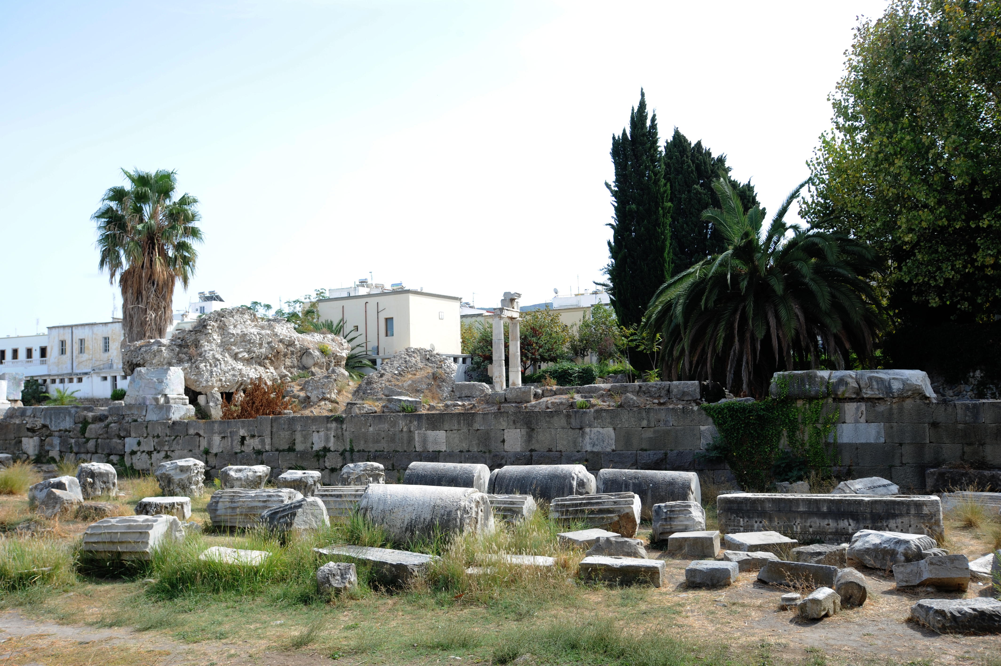 Ancient ruins in Kos Town