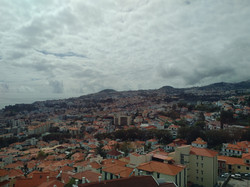 Funchal view from the Teleferico