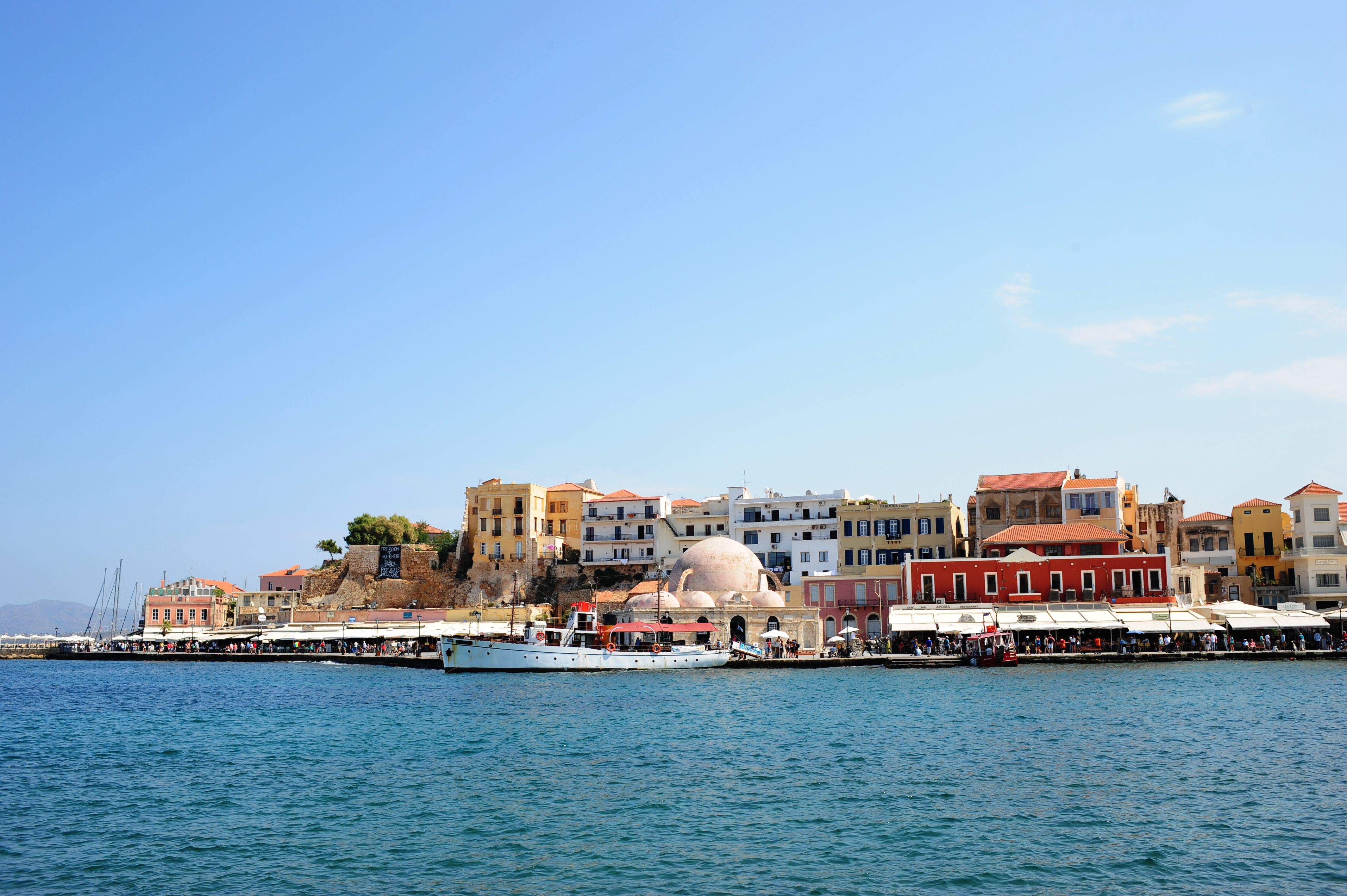Chania harbour and mosque
