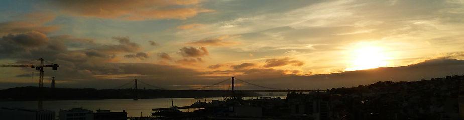 Lisbon view from Miradouro de Santa Catarina