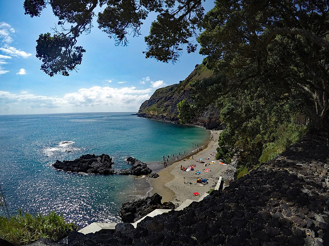 Azores travel guide - Sao Miguel sandy beach