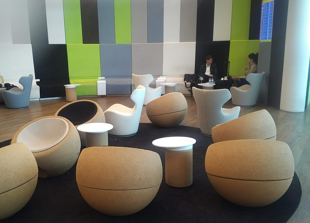 TAP Portugal lounge Lisbon armchair seating