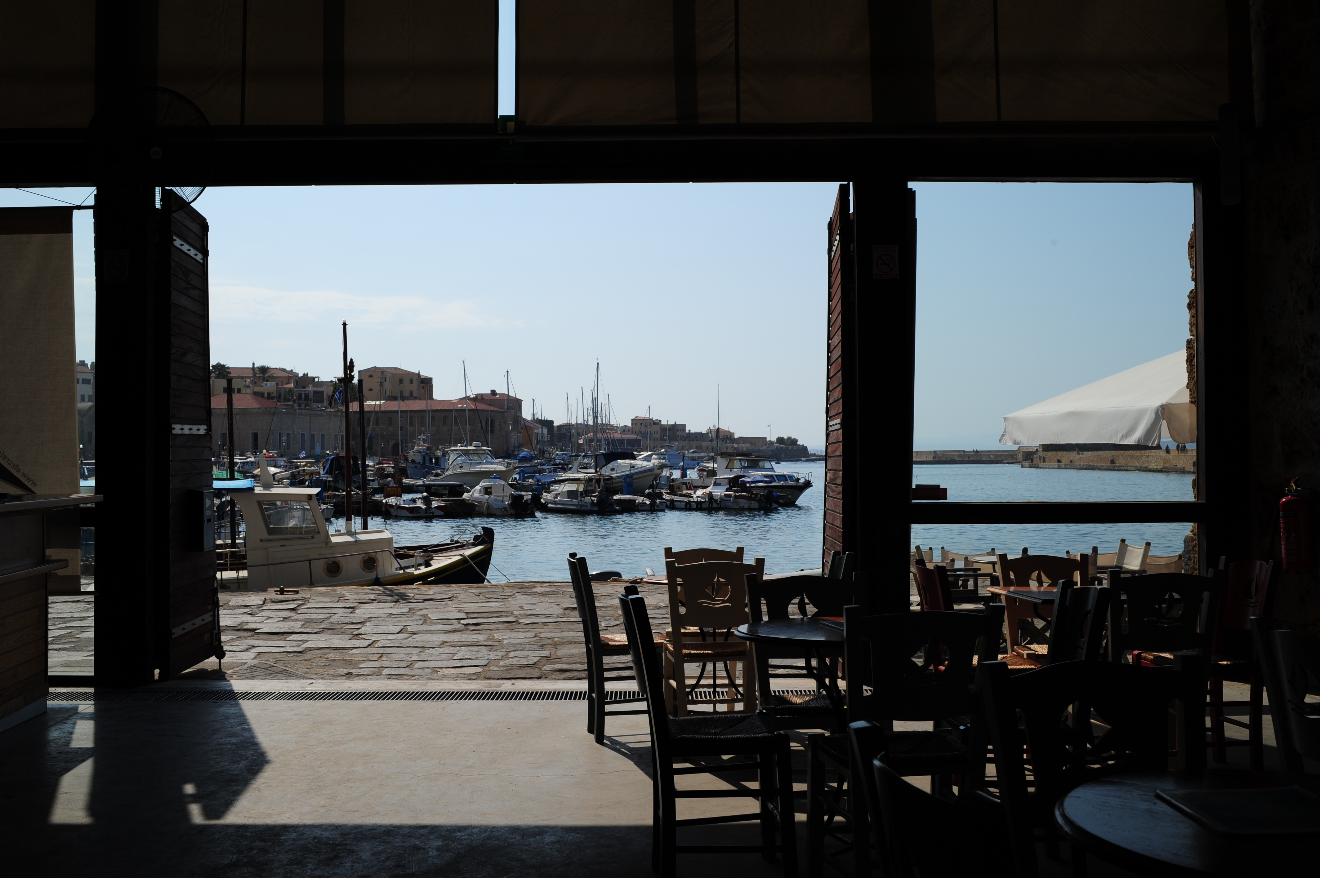 Chania sailing club cafe