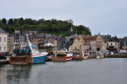 Honfleur harbour and fishing boats
