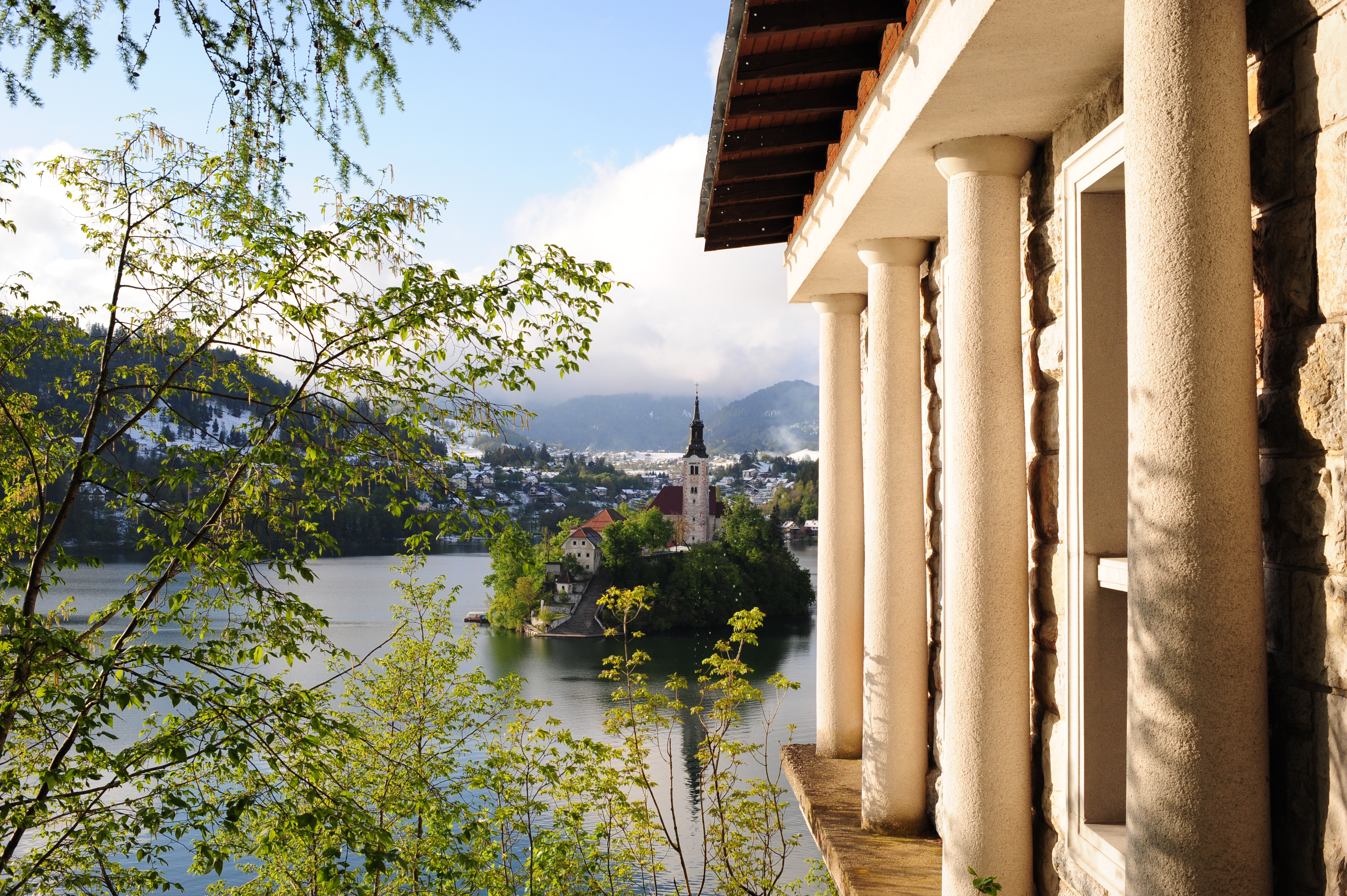 View over Lake Bled from Belvedere cafe