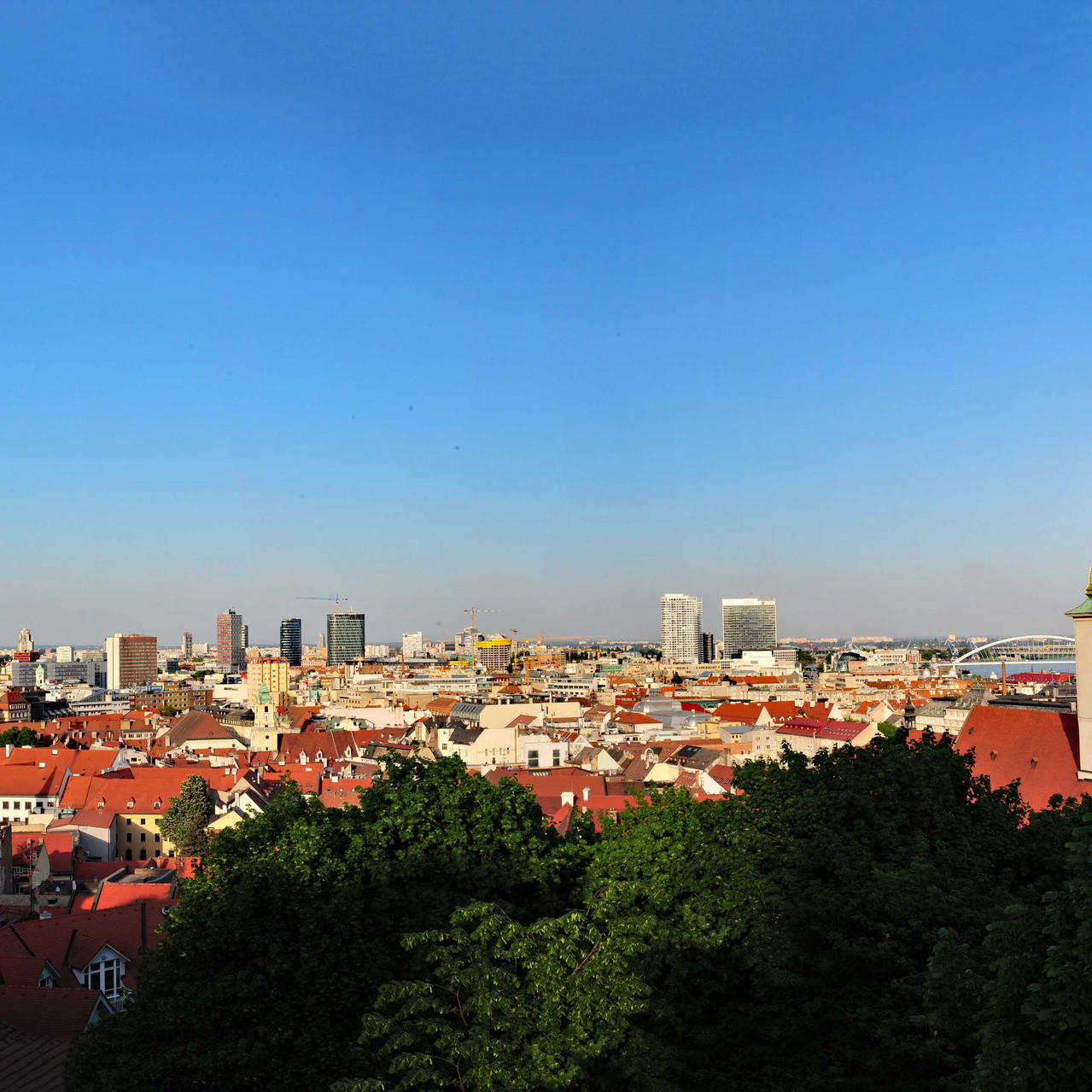 View over Bratislava from the castle grounds