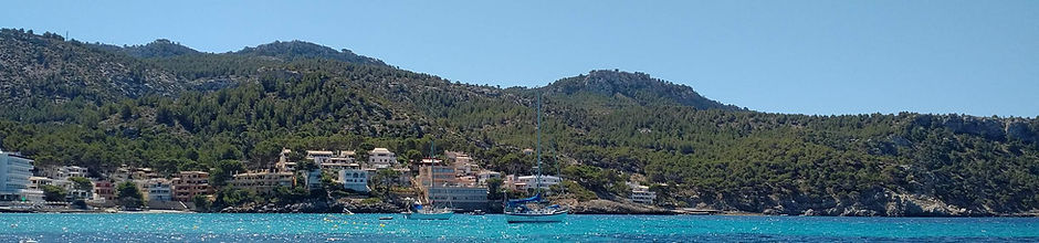 Sant Elm Mallorca view from the sea