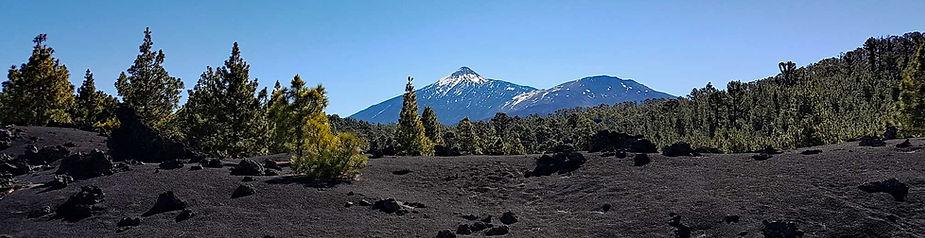 Walking in Tenerife - view over Teide volcano