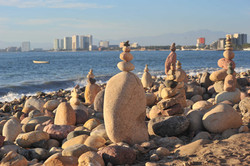 Rocky beach by the Malecon, Puerto Vallarta
