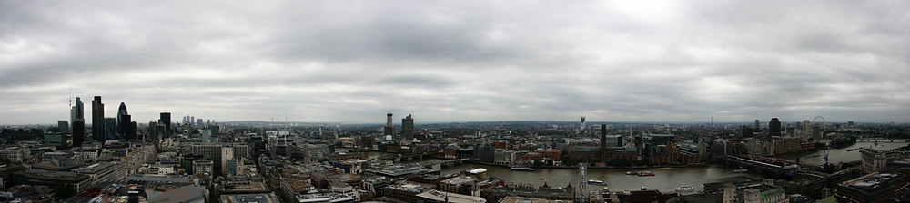 London panoramic view from St. Paul's Cathedral