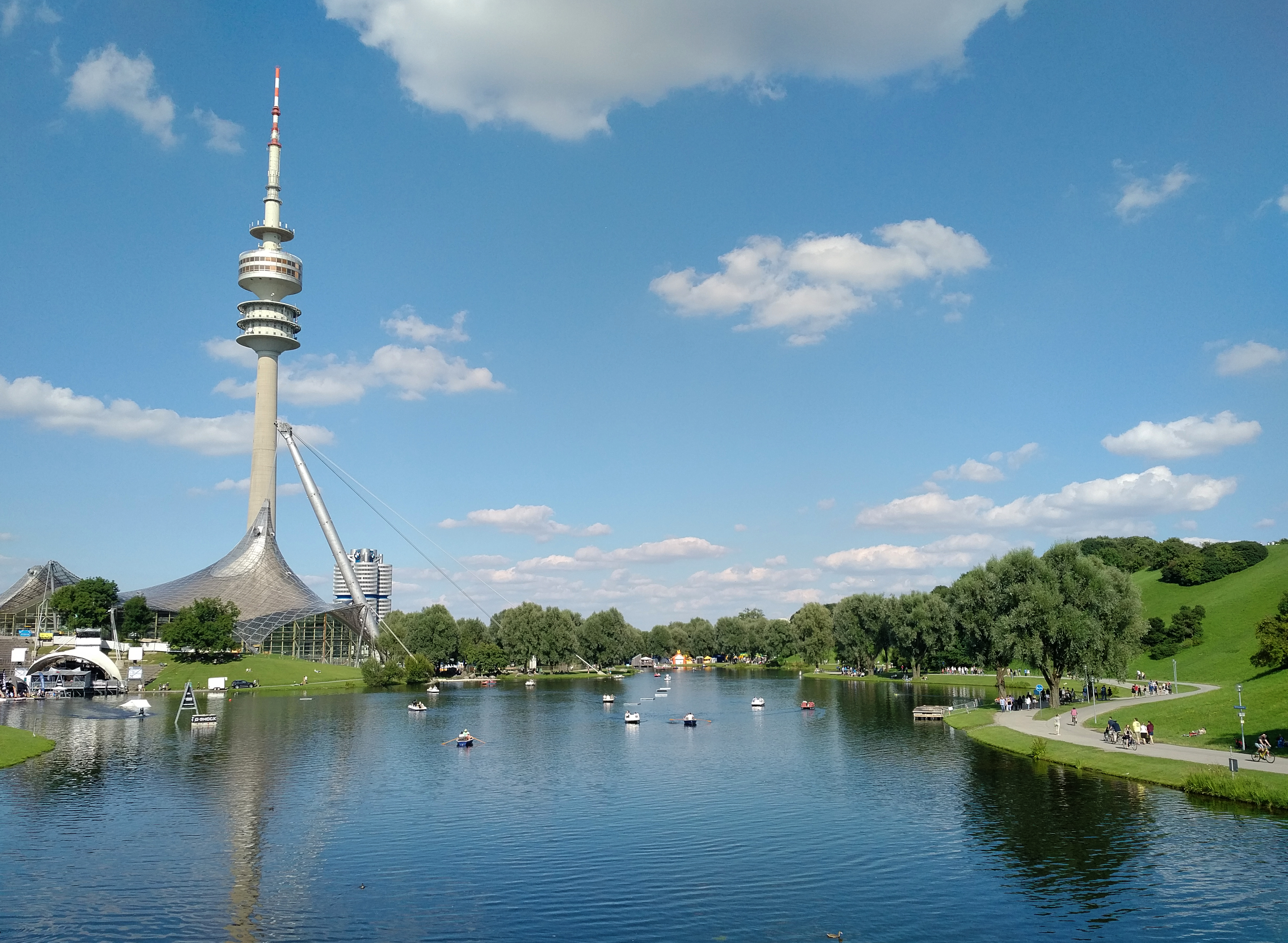 Olympic park and tower, Munich