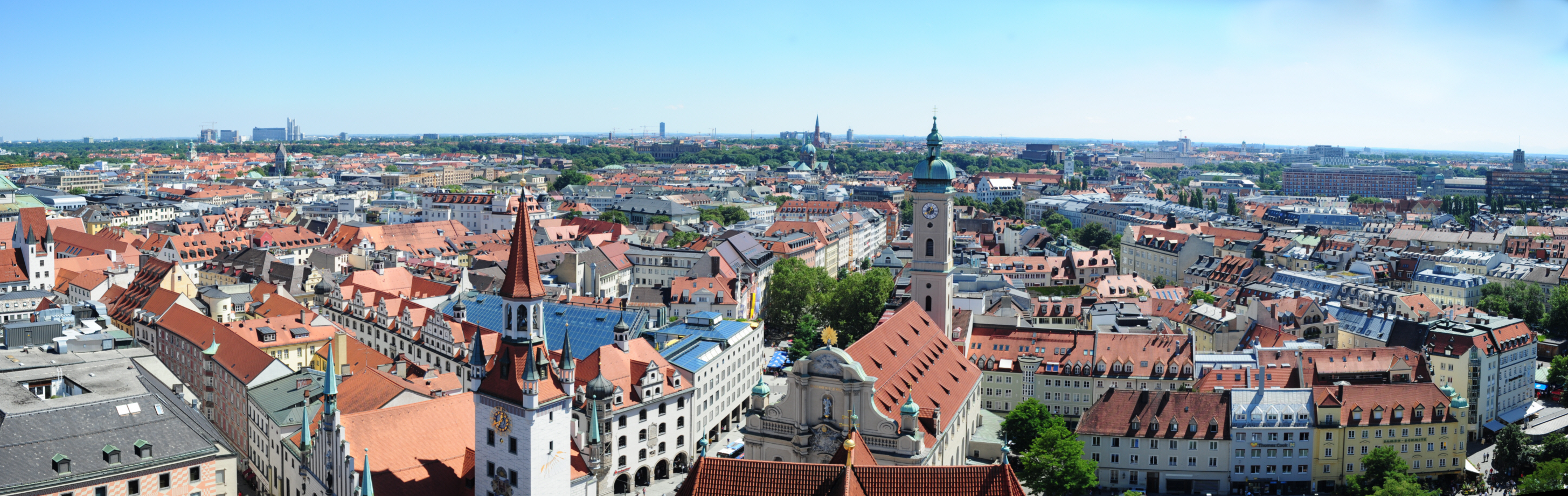 View from the tower of St Peter's church, Munich