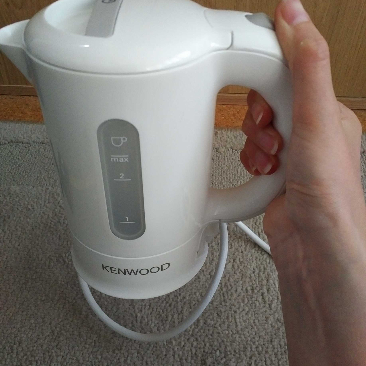 Best travel kettle - Kenwood in the hand