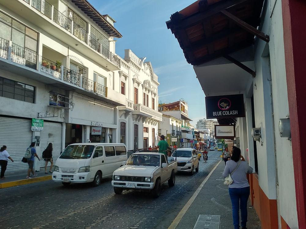 A street in Puerto Vallarta, Mexico
