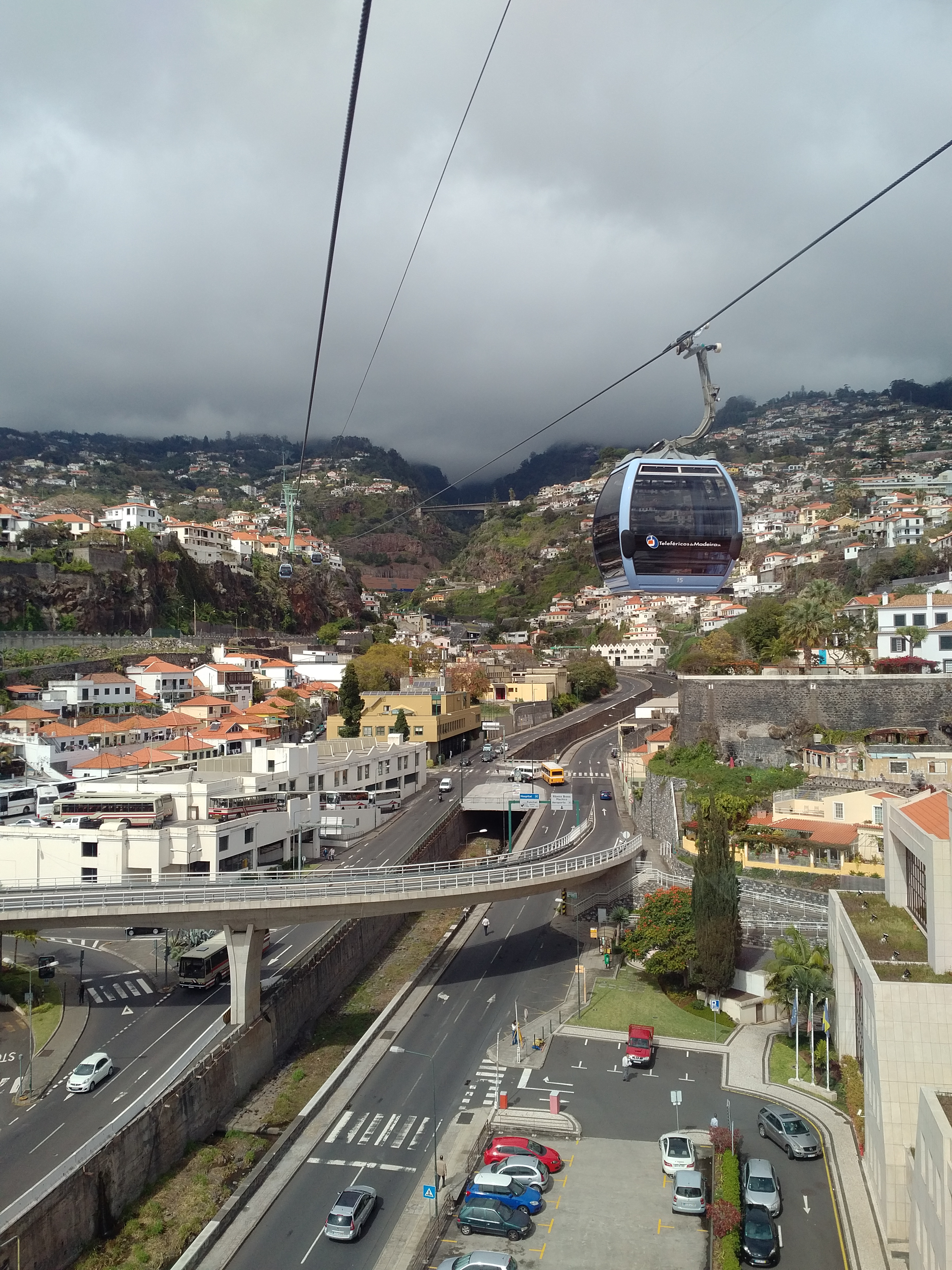 Going up in the Teleferico